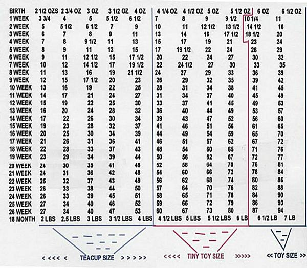 Giant Breed Dog Weight Chart